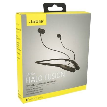 Jabra Halo Fusion Bluetooth In-Ear Headphones Stereo Headset, Hands Free Functionality, Neck Strap