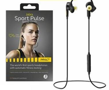 Jabra Sport Pulse Wireless Bluetooth In-Ear Kopfhörer (Stereo-Headset, Bluetooth 4.0, NFC, AVRCP, Freisprechfunktion