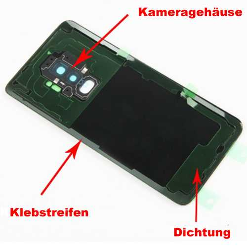 Samsung Galaxy S9 G950F battery cover glass back cover DUOS – Bild 6