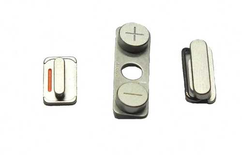 Button set for iPhone 4 / 4S (volume, mute and power button)
