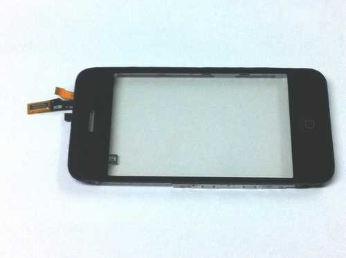 Touchscreen with frame and Home button mounted for iPhone 3G