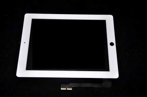 Digitizer Touch pad with Front panel Glass Cover for iPad3 / iPad4, white
