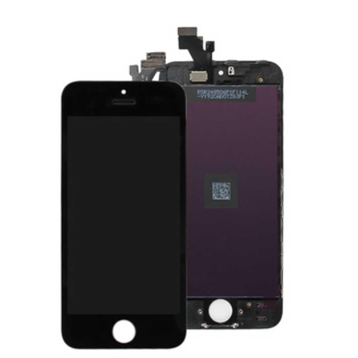 display einheit f r iphone 5 schwarz komplett sintech. Black Bedroom Furniture Sets. Home Design Ideas