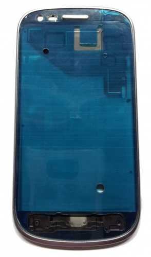 Front frame for Samsung Galaxy S3 Mini i8190 silver