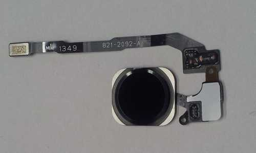 iPhone 5S black Home Button assembly with fingerprint sensor