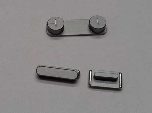 Button set (volume, mute and power button) grey for black iPhone 5S