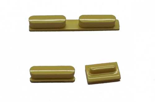 Button set in yellow colour(volume, mute and power button) for iPhone 5C