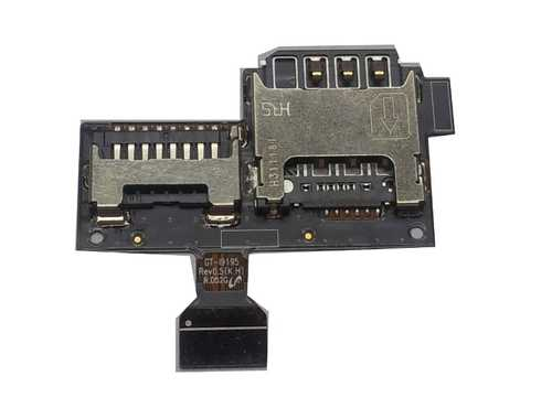 SIM Card Tray and SD Card Holder for SAMSUNG GALAXY S4 Mini i9190