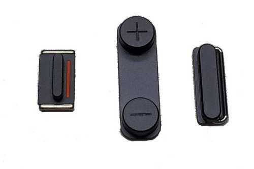 Button set (volume, mute and power button) grey for black iPhone 5