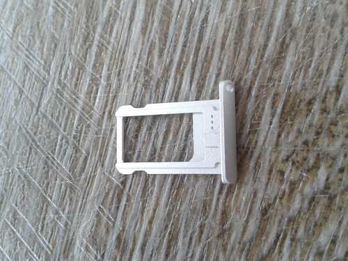 Sim Kartenhalter / Tray / Schlitten silber für iPad Mini 1/2/3 weiß