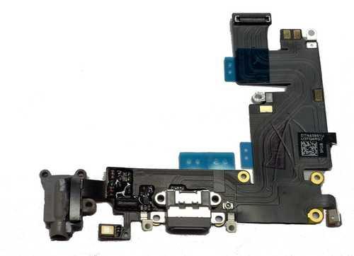 Docking port USB Lightning für iphone 6+ mit Kopfhörerbuchse und Flexkabel grau