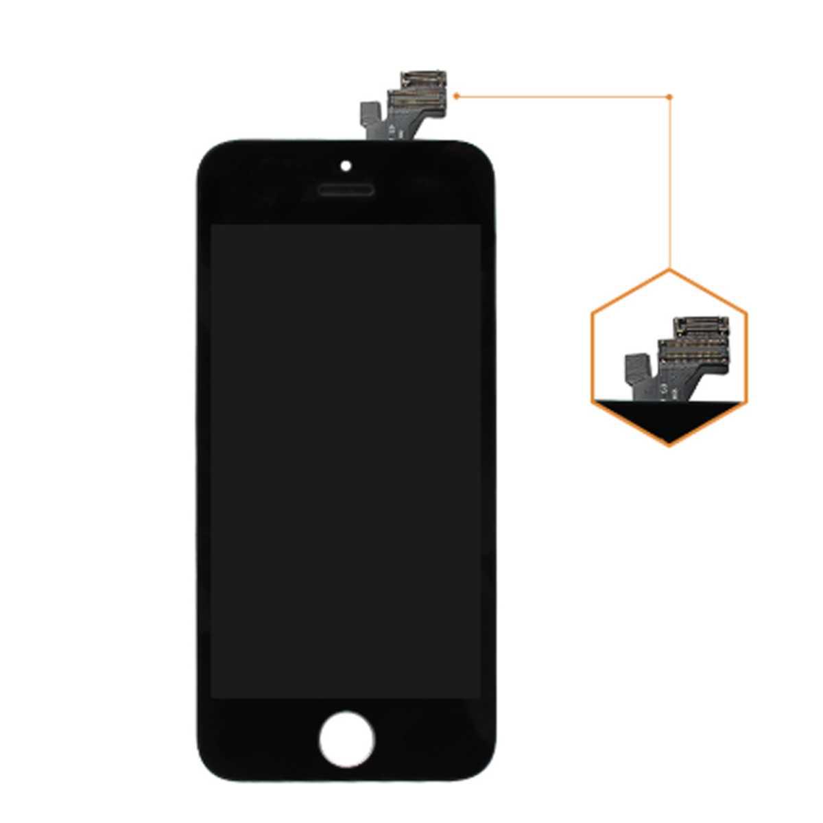 standard display einheit schwarz komplett f r iphone 5. Black Bedroom Furniture Sets. Home Design Ideas