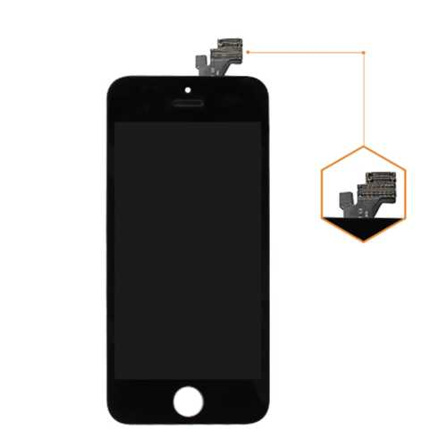 Common quality LCD Digitizer Touch pad with Front panel Glass Cover for iPhone 5 black – Bild 2