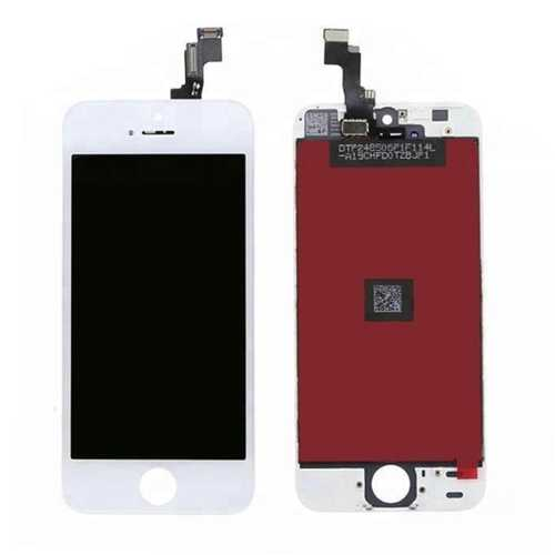 Common quality LCD Digitizer Touch pad with Front panel Glass Cover for iPhone 5S white – Bild 2