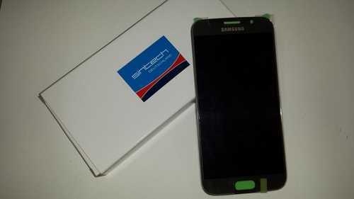 Display für Samsung Galaxy S6 in gold SM-G920F (GH97-17260C) Touchscreen, LCD + Rahmen