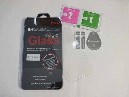 Panzer Schutzfolie / Display-Schutzglas 9H für Samsung Galaxy S4 Mini SINTECH© Premium Qualität