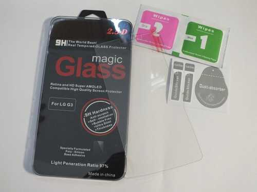 Tempered glas / Burst screen safety glas 9H for LG G3