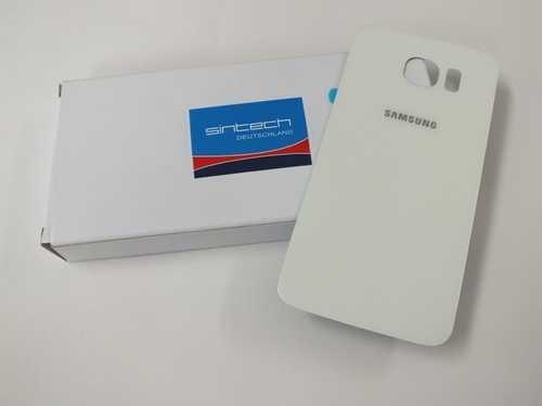 Samsung Galaxy S6 G920F Akkudeckel Glas weiß Backcover Rückseite