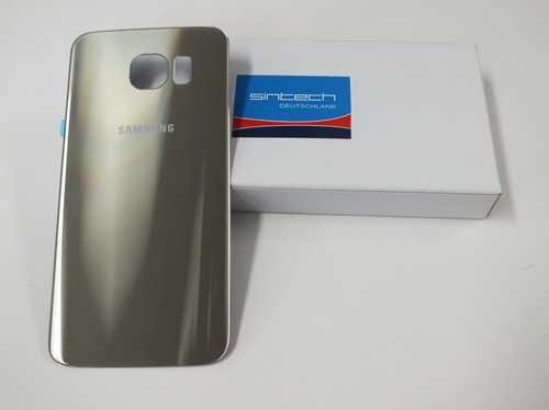 Samsung Galaxy S6 G920F Akkudeckel Glas gold Backcover Rückseite GH82-09548C