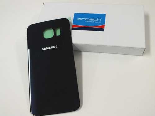 Samsung Galaxy S6 Edge G925F Akkudeckel Glas schwarz sapphire Backcover Rückseite GH82-09602A