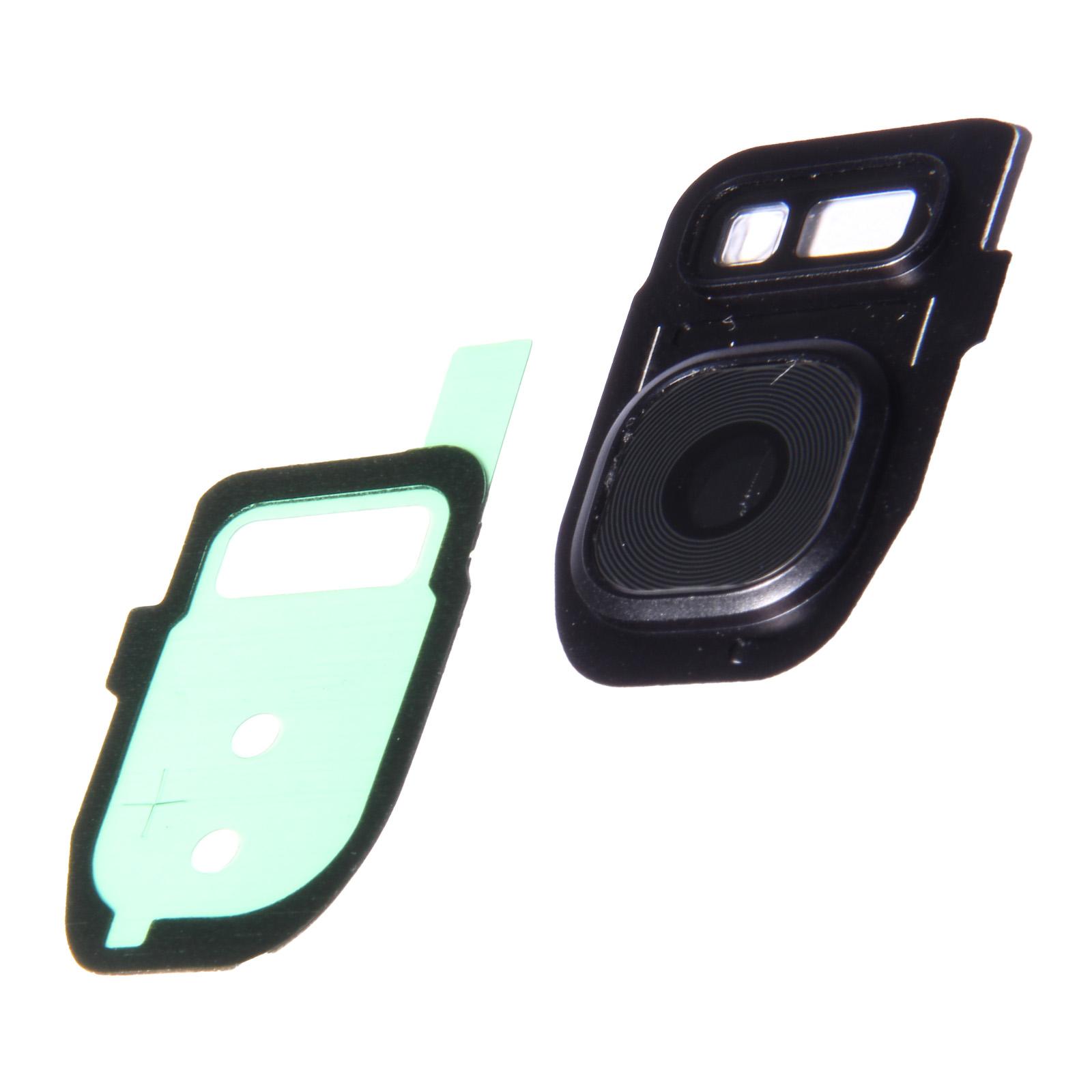 lens glas for kamera back with frame for samsung galaxy s7 edge black. Black Bedroom Furniture Sets. Home Design Ideas