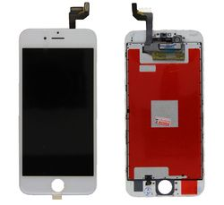 Common quality LCD Digitizer Touch pad with Front panel Glass Cover for iPhone 6S white – image 1