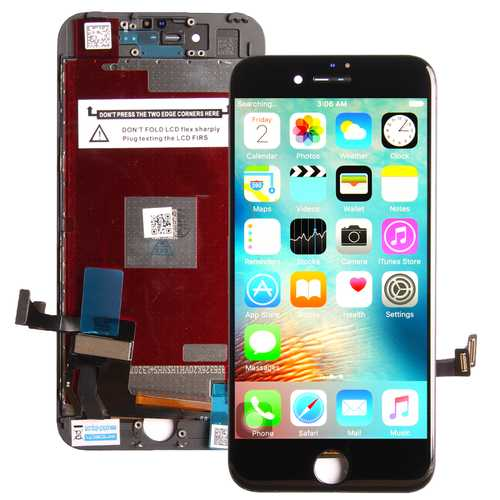 Common quality LCD Digitizer Touch pad with Front panel Glass Cover for iPhone 7 black – Bild 1