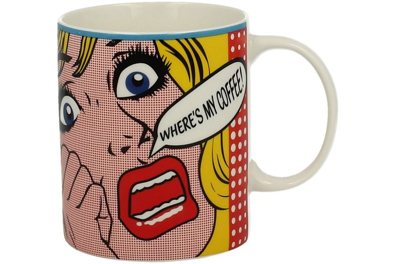 "Kaffeetasse Kaffeebecher Pop-Art / Comic Stil 340 ml ""Where's my coffee!"""