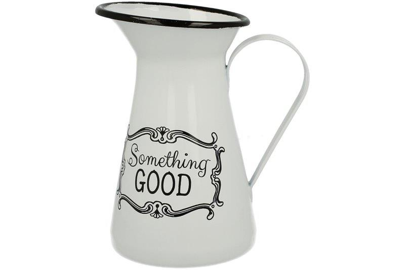 "Kanne Krug Vase Vintage aus Emaille ""Something Good"" 1,2 L von DUO"