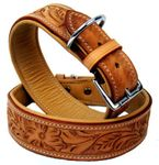 Hundehalsband aus Echt Leder, Hunde Halsband, Hundehalsbänder. LDC-561