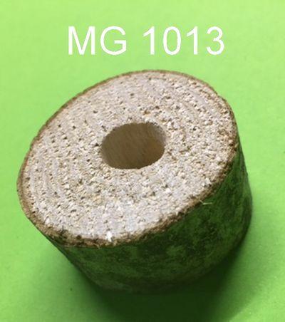 Naturholzscheibe dünn  ca. 3 - 4 cm breit ca. 2 cm dick mit Bohrung 12 mm