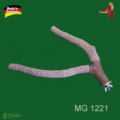 Krallenpflege Ast mittel für Wellensittiche und andere Sitticharten Länge ca. 20 cm Breite ca.: 1,5 cm