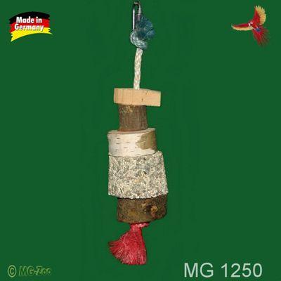 Natur-Spielzeug mit Mineralstein Länge:ca. 20 cm Breite: ca. 6 cm