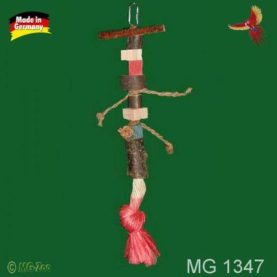 Sittich Spielkette mit großem Sisalknoten ca. 37 cm lang ca. 7 cm breit