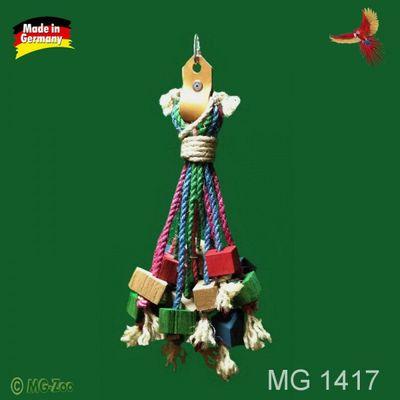 Sisal Krake für Papageien viele Sisalseile mit Knabberhölzern ca. 40 cm lang ca. 20 cm breit