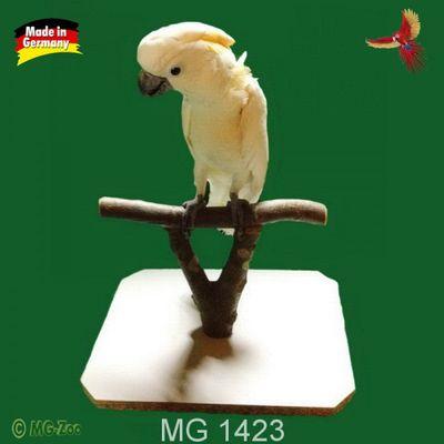 Papageien Ständerle - Mobiler Sitzplatz  für alle großen zahmen Vögel ca 30 x 40 cm und 20 cm hoch