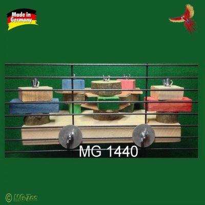 Bastel Brett für schlaue Papageien zum anschrauben am Käfig - mit Nachfüll-Holzset - ca. 35 cm lang ca. 15 cm breit