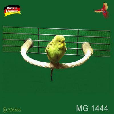 Sisal Anflugstange für Sittiche aus 16 mm Seil - biegsam zum festschrauben ca. 50 cm lang