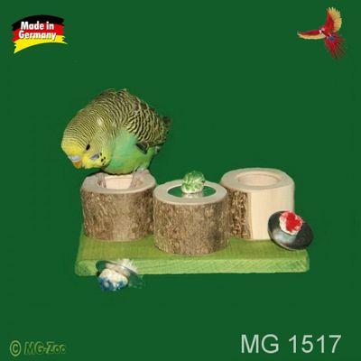 3-2-1 gefunden hohle Rundhölzer mit Deckel - Versteckspiel für Wellensittich und kleine Papageien ca.15 cm lang ca.8 cm breit ca. 5 cm hoch