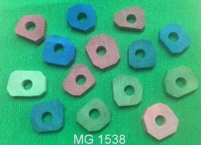 Nachfüllpack 14 stück Bunte Holzklötze  für Spielzeug ( Stapelbrettchen ) Art. Nr. 1514