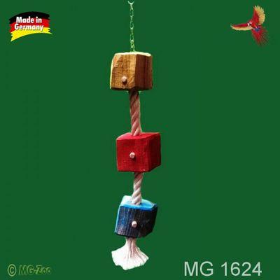 Ara Jumbo Zerstörer Tau aus 30 mm Sisalseil und ca. 12cm x 12 cm dicken Hartholzwürfeln