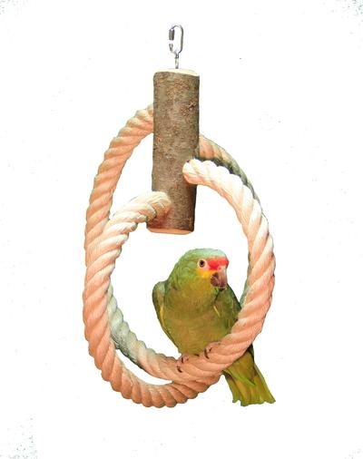 Papageien Schaukel Kugel aus 30 mm Sisalseil