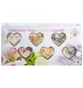 Badeherzen Set Rose Lime&Macadamia Lavendel 90 gr