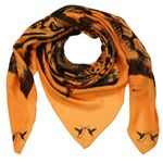 Cashmere Modal Tuch  Tiger Session  Orange