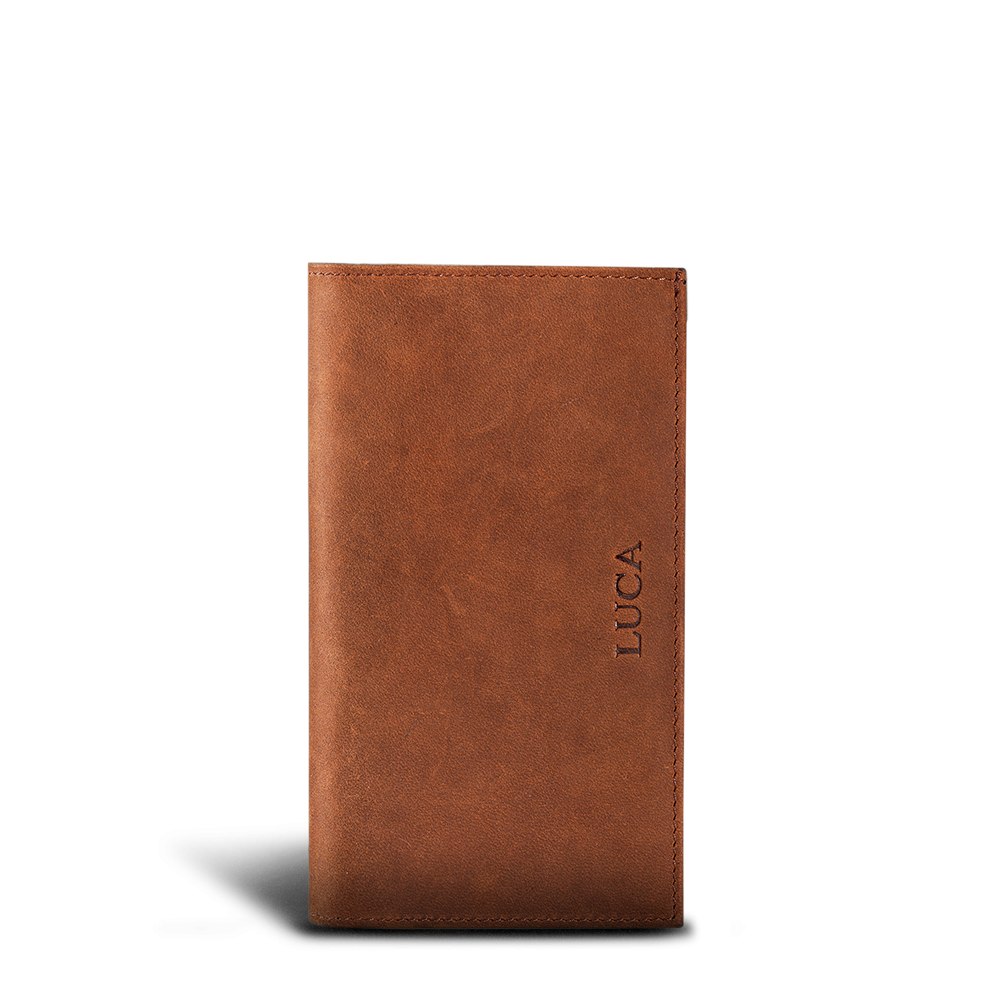 LUCA iPhone Plus & Max Etui - Nubuk Antique Brown 2