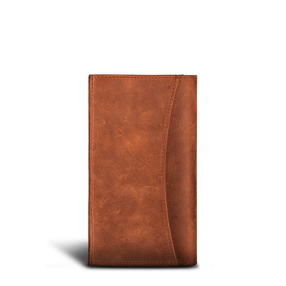 LUCA iPhone Plus & Max Etui - Nubuk Antique Brown 3