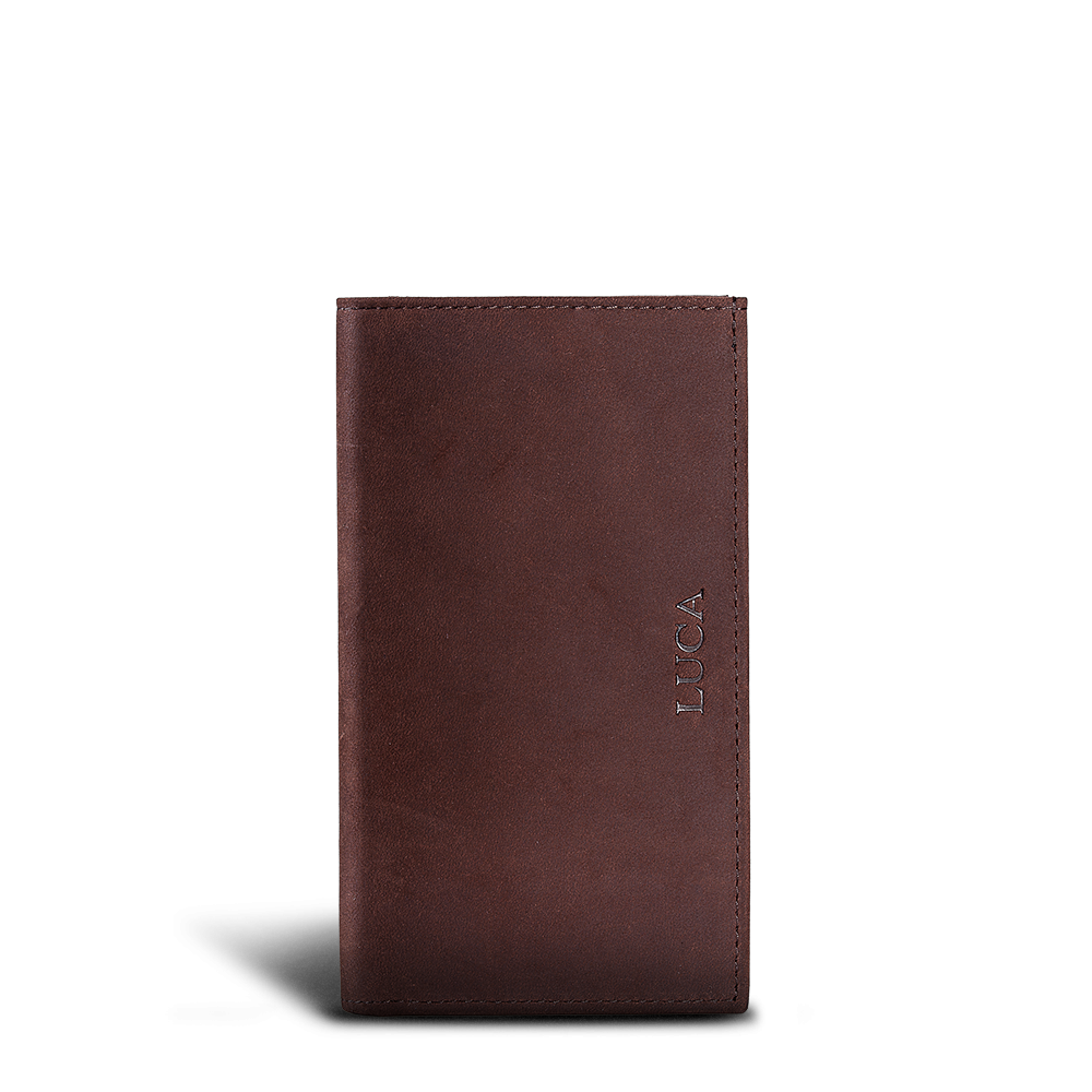 LUCA iPhone Plus & Max Etui - Nubuk Vintage Choco 2