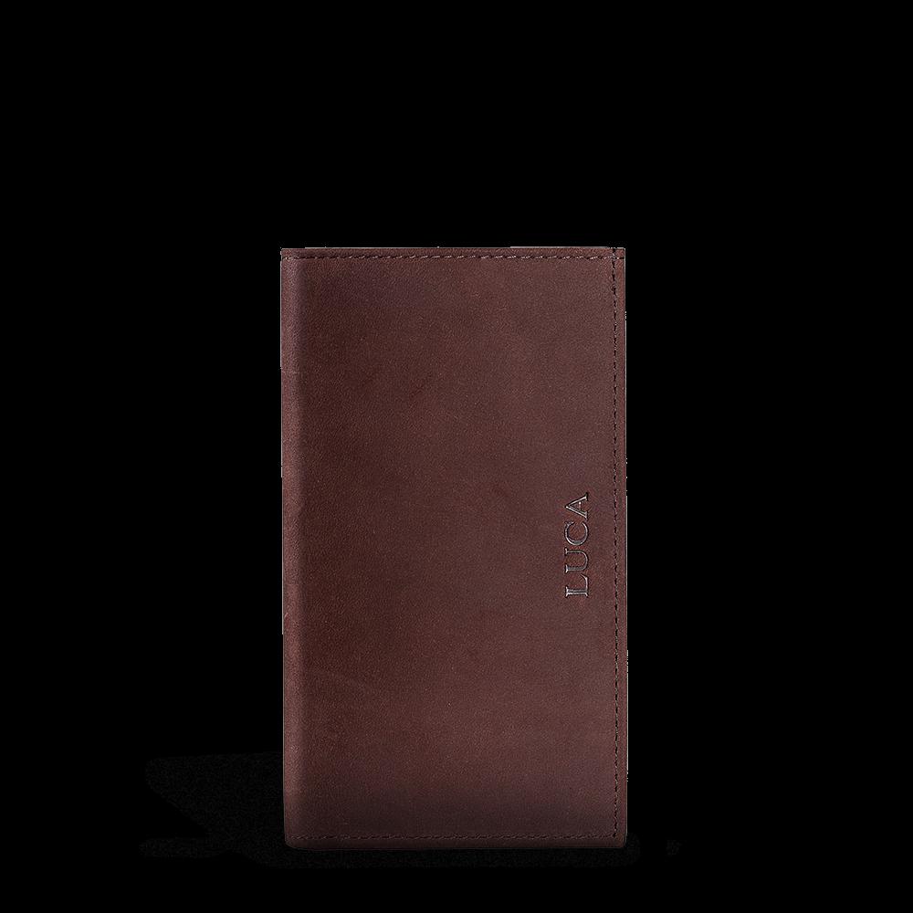 LUCA iPhone Plus & Max Etui - Nubuk Vintage Choco 2