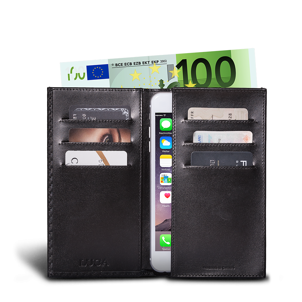 LUCA iPhone 6 Plus wallet - carbon black