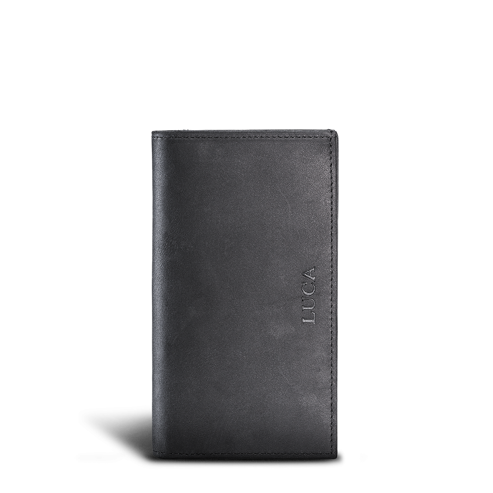LUCA iPhone 6 Plus wallet - nubuck black 2